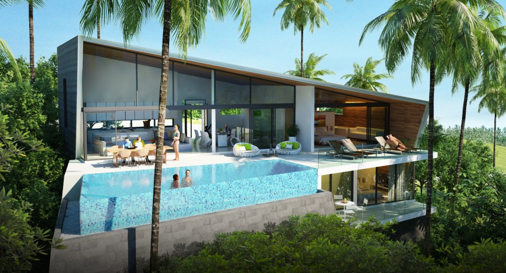 3 Bedroom Luxury Sea View Villa Maenam Samui Property